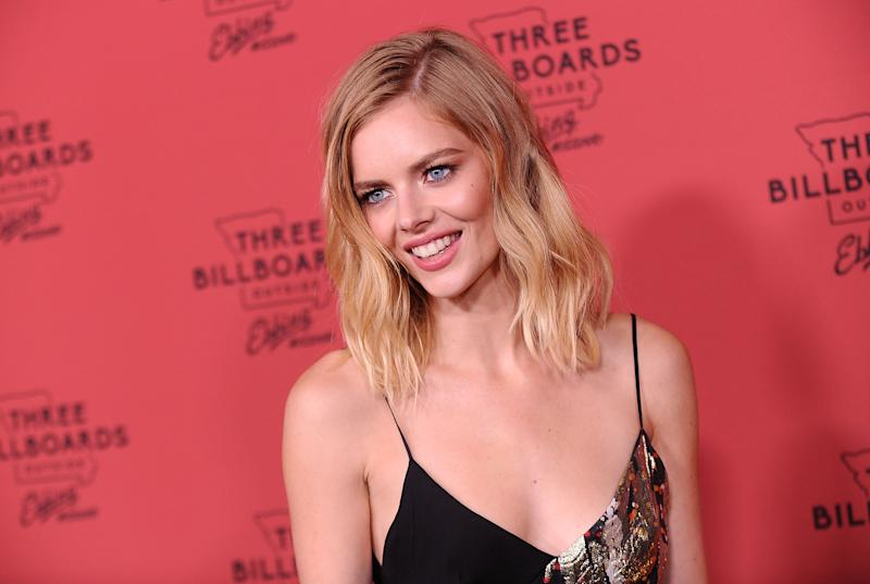 "Samara Weaving attends the premiere of ""Three Billboards Outside Ebbing, Missouri"" on November 3, 2017. (Photo by Jason LaVeris/FilmMagic)"
