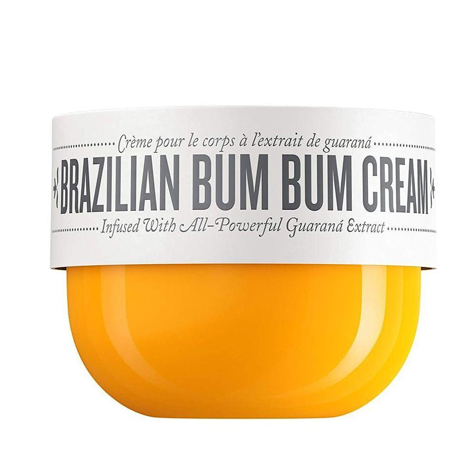 """<p><strong>Sol de Janeiro</strong></p><p>sephora.com</p><p><strong>$45.00</strong></p><p><a href=""""https://go.redirectingat.com?id=74968X1596630&url=https%3A%2F%2Fwww.sephora.com%2Fproduct%2Fbrazilian-bum-bum-cream-P406080&sref=https%3A%2F%2Fwww.bestproducts.com%2Fbeauty%2Fg22624901%2Fbutt-beauty-skincare-products%2F"""" rel=""""nofollow noopener"""" target=""""_blank"""" data-ylk=""""slk:Shop Now"""" class=""""link rapid-noclick-resp"""">Shop Now</a></p><p>The Brazilian Bum Bum Cream has now <a href=""""https://www.glamour.com/story/sol-de-janeiros-brazilian-bum-bum-cream-review"""" rel=""""nofollow noopener"""" target=""""_blank"""" data-ylk=""""slk:achieved cult status"""" class=""""link rapid-noclick-resp"""">achieved cult status</a> in the realm of butt beauty. While it's known for its bum-contouring properties (hence the name), this cream can also help tighten any area you desire. </p><p>What's the secret? Guaraná, a native Amazonian plant that contains a potent form of caffeine, works with an antioxidant-packed cocktail of cupuaçu butter, açaí, and coconut oil to form this fast-acting cream that helps to smooth the skin. It's also formulated with a hint of mica to add subtle sheen for that true Brazilian glow.</p><p><strong>More:</strong> <a href=""""https://www.bestproducts.com/beauty/g742/skin-tightening-cellulite-cream/"""" rel=""""nofollow noopener"""" target=""""_blank"""" data-ylk=""""slk:Our Favorite Skin-Firming Cellulite Creams"""" class=""""link rapid-noclick-resp"""">Our Favorite Skin-Firming Cellulite Creams</a></p>"""
