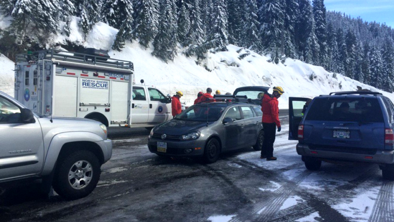 Man rescued from 2 metres of snow after avalanche in Cypress Provincial Park