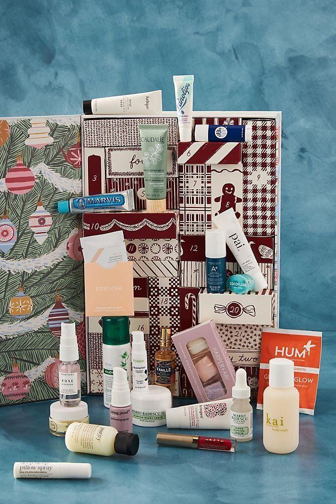 """One of the best beauty sets you probably will see this season, this advent calendar has 24 samples from brands likeMario Badescu, Sunday Riley and Caudalie. Something in this set is sure to catch the eye of the beauty lover in your life.<a href=""""https://fave.co/2TnKjF4"""" target=""""_blank"""" rel=""""noopener noreferrer"""">Find it for $72 at Anthropologie</a>."""