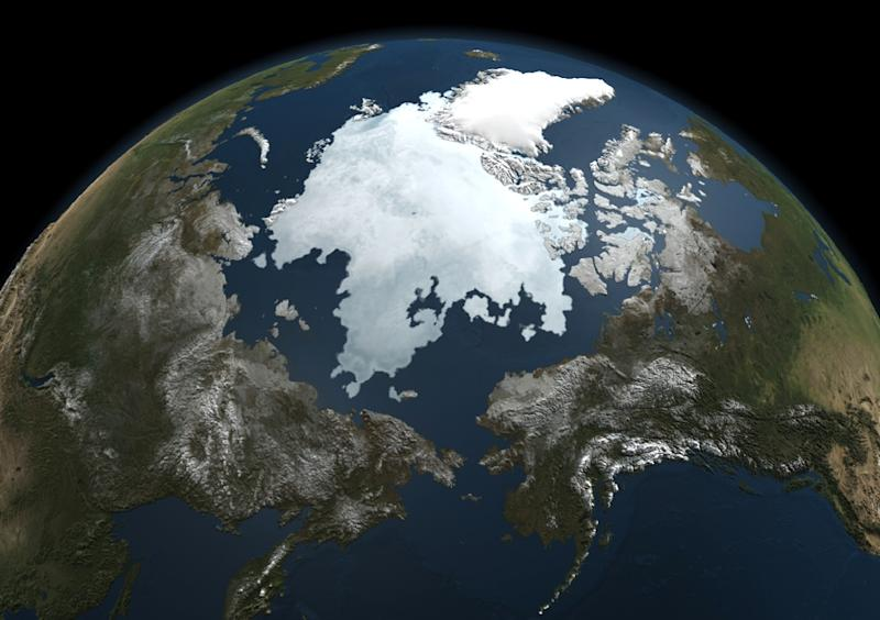 A picture taken by NASA's Aqua satellite taken on September 3, 2010 shows the extent of the Arctic sea ice (AFP Photo/)