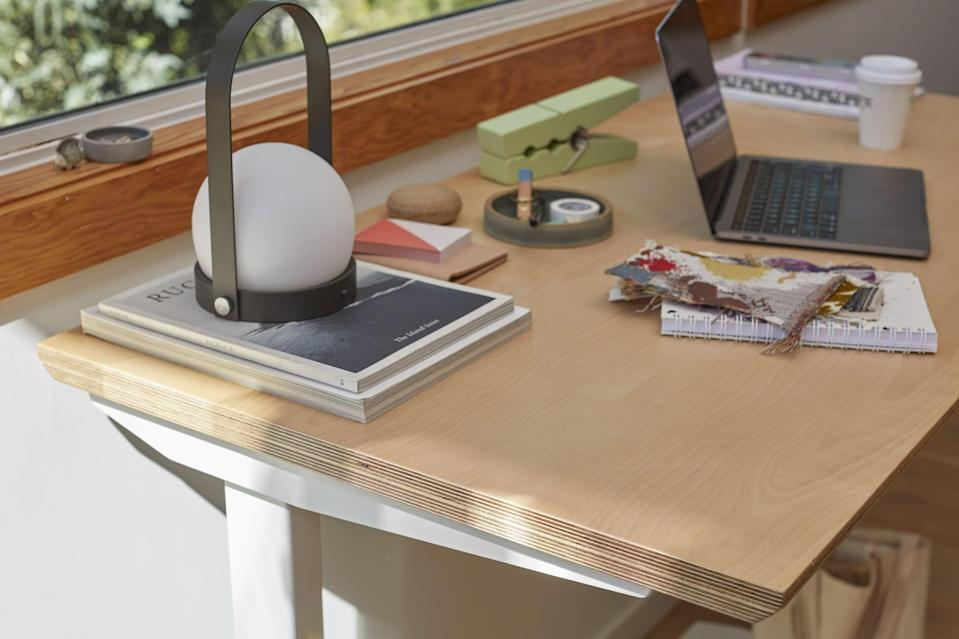 Floyd x Fully Standing Desk in Birch and White
