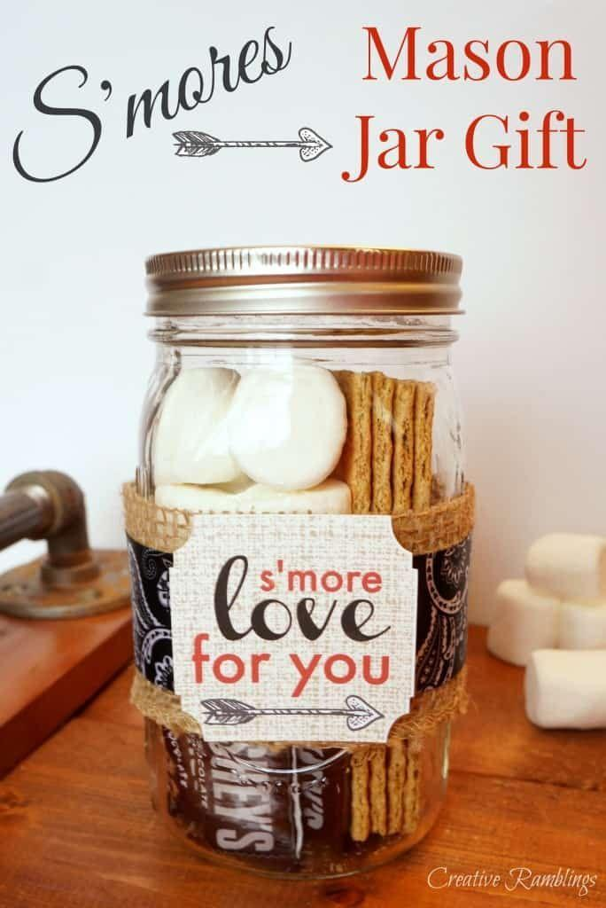 """<p>Anyone will appreciate this cute mason jar idea that puts everything you need for a s'more in one spot, along with a sweet message.</p><p><strong>Get the tutorial at <a href=""""https://www.creativeramblingsblog.com/smores-mason-jar-valentines-day/"""" rel=""""nofollow noopener"""" target=""""_blank"""" data-ylk=""""slk:Creative Ramblings"""" class=""""link rapid-noclick-resp"""">Creative Ramblings</a>.</strong></p><p><strong><a class=""""link rapid-noclick-resp"""" href=""""https://www.amazon.com/Ball-Mason-Jar-16-Clear-Heritage/dp/B0764L6ZR9/?tag=syn-yahoo-20&ascsubtag=%5Bartid%7C10050.g.93%5Bsrc%7Cyahoo-us"""" rel=""""nofollow noopener"""" target=""""_blank"""" data-ylk=""""slk:SHOP MASON JARS"""">SHOP MASON JARS</a><br></strong></p>"""