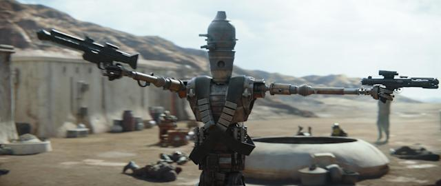Taika Waititi is IG-11 in the Disney+ series THE MANDALORIAN.