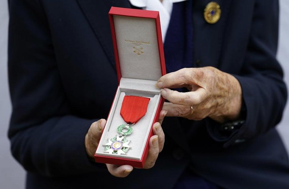 The 96-year-old with the Legion d'honneur (Andrew Matthews/PA) (PA Wire)