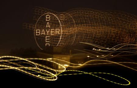 FILE PHOTO -  The logo of Germany's largest drugmaker Bayer is pictured in Leverkusen