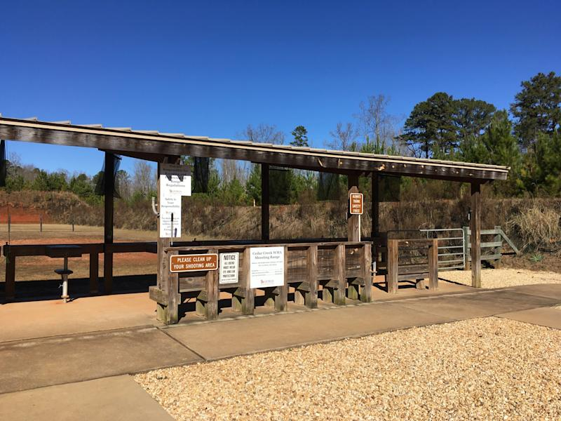 A quiet day at the Cedar Creek Shooting Range, Eatonton, Georgia, in January 2019. (Photo: Courtesy of Mel Plaut)