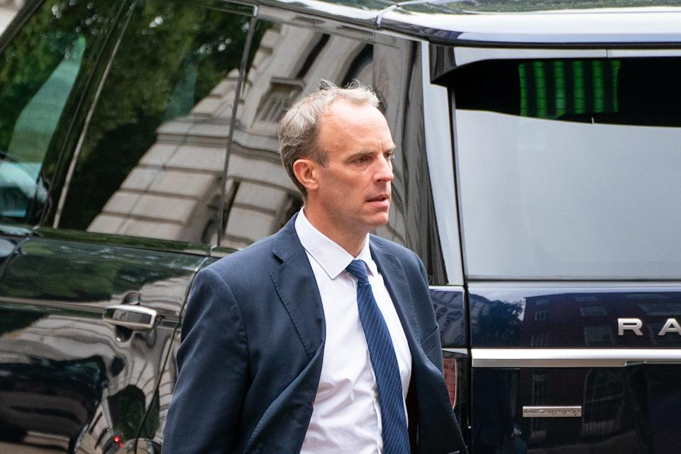 The failure to destroy the documents is another headache for Foreign Secretary Dominic Raab. (PA)
