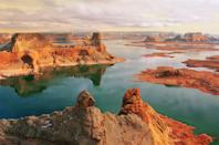"Lake Powell, which stretches some 186 miles from Utah into Arizona, has long been a summer favorite. Travelers come to marvel at the striking sandstone cliffs and rock formations along the shore—all while boating, waterskiing, kayaking, fishing, and swimming in the reservoir's bright blue waters. This <a href=""https://cna.st/affiliate-link/MQqxxtNLYnQ8oFkSN7SzyJEpCNKRmWDLCDx3k95XqhHVQi5qv6vdQfJyUSAhK3aMXhqXW8rADvMbiFYfMhzbURjo4c?cid=5ba54785625211259a9731b8"" rel=""nofollow noopener"" target=""_blank"" data-ylk=""slk:serene three-bedroom home"" class=""link rapid-noclick-resp"">serene three-bedroom home</a> in Page, Arizona, sleeps eight, is perfect for a family, and puts you within 10 minutes of both the lake, Antelope Canyon, and the famed <a href=""https://www.cntraveler.com/story/how-to-escape-the-crowds-at-horseshoe-bend?mbid=synd_yahoo_rss"" rel=""nofollow noopener"" target=""_blank"" data-ylk=""slk:Horseshoe Bend"" class=""link rapid-noclick-resp"">Horseshoe Bend</a>. While water sports may be a main draw to the area, the stargazing in this area is also next level. <a href=""https://cna.st/affiliate-link/MQqxxtNLYnQ8oFkSN7SzyJEpCNKRmWDLCDx3k95XqhHVQi5qv6vdQfJyUSAhK3aMXhqXW8rADvMbiFYfXbdWea1fLX?cid=5ba54785625211259a9731b8"" rel=""nofollow noopener"" target=""_blank"" data-ylk=""slk:The Kyo͞ob"" class=""link rapid-noclick-resp"">The Kyo͞ob</a>, a minimalist Airbnb built from a steel cube, sits just 30 minutes from the Wahweap Marina in <a href=""https://www.cntraveler.com/story/how-orenda-tribe-is-supporting-hard-hit-navajo-nation-during-the-coronavirus?mbid=synd_yahoo_rss"" rel=""nofollow noopener"" target=""_blank"" data-ylk=""slk:Navajo Nation"" class=""link rapid-noclick-resp"">Navajo Nation</a> and offers stellar views of the night sky—so wonderful, in fact, that the stay was featured in the <a href=""https://www.cntraveler.com/story/a-stargazing-road-trip-across-the-american-southwest?mbid=synd_yahoo_rss"" rel=""nofollow noopener"" target=""_blank"" data-ylk=""slk:March 2021 issue of Conde Nast Traveler"" class=""link rapid-noclick-resp"">March 2021 issue of <em>Conde Nast Traveler</em></a>."