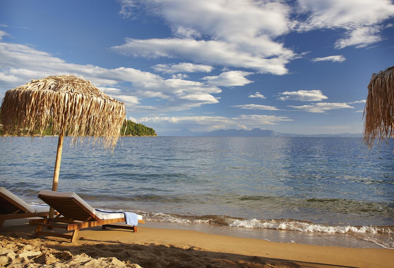 """<p><span>What could be more romantic than a honeymoon on the very island where Mamma Mia was filmed? There's little wonder producers chose this location, with its </span><span>guaranteed sun, tranquil beaches and crystal clear waters. Seven nights' B&B at the 5* Skiathos Princess Hotel os from £894pp with </span><a rel=""""nofollow"""" href=""""http://www.classic-collection.co.uk/""""><span>Classic Collection Holidays</span></a><span>, including Gatwick flights departing on May 12. [Photo: Classic Collection Holidays]</span> </p>"""