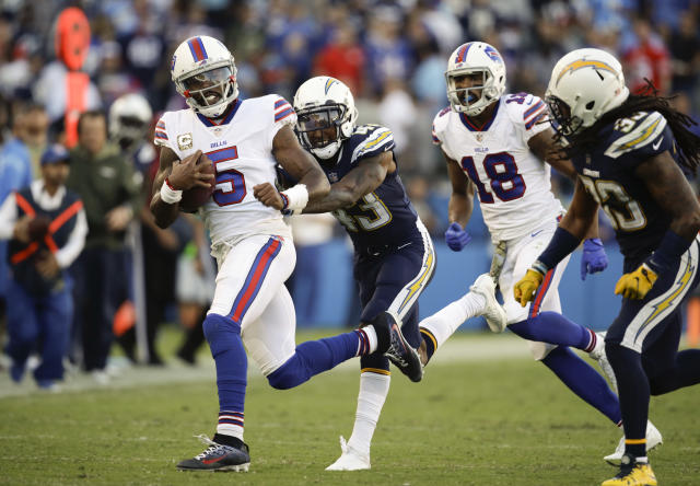 It seems safe to assume the Bills will un-bench Tyrod Taylor, after the Nathan Peterman experiment was such a spectacular failure. (AP Photo/Jae C. Hong)