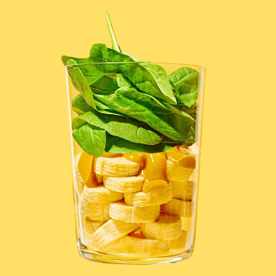 <p>Peanut butter and banana is a classic combo that's even more delicious with the addition of tangy probiotic-rich kefir. Plus, this peanut butter banana smoothie helps you up your veggie servings for the day with a bit of mild-flavored spinach mixed in.</p>