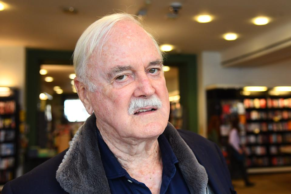 "John Cleese during a book signing at Waterstones Piccadilly to promote his book ""Creativity: A Short and Cheerful Guide"" on September 10, 2020 in London, England. (Photo by Dave J Hogan/Getty Images)"