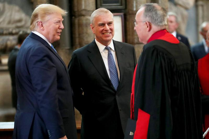 President Donald Trump (left) and Prince Andrew at Westminster Abbey together in June. | Chris Jackson/Getty