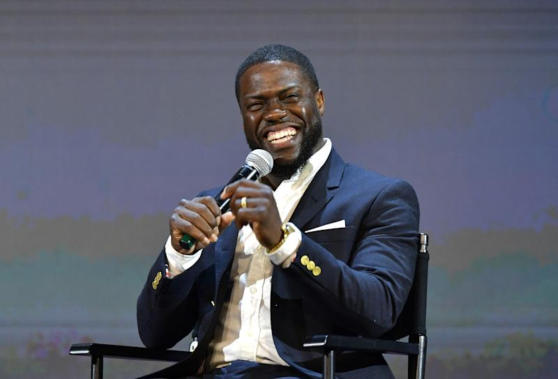 LOS ANGELES, CALIFORNIA - MAY 11: Kevin Hart speaks onstage at the 'Netflix Is A Joke' screening at Raleigh Studios on May 11, 2019 in Los Angeles, California. (Photo by Emma McIntyre/Getty Images for Netflix)