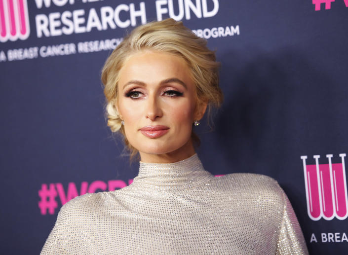 Paris Hilton lead an Oct. 9 protest demanding the closure of Provo Canyon Schoolin Springville, Utah, where she claims she was abused as a student. (Photo: Tibrina Hobson/WireImage)