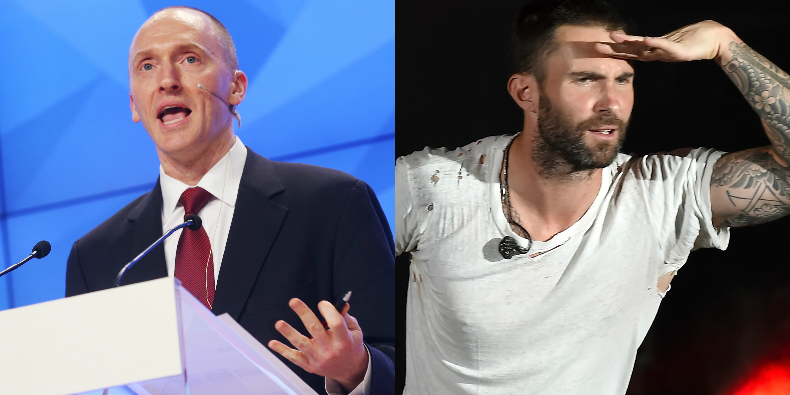 Former Trump Aide Carter Page Cites Maroon 5 in Department of Justice Letter
