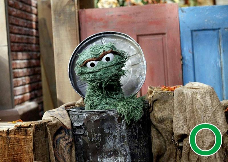 "O is for Oscar the Grouch: Did you know everyone's favorite misanthrope from <a href=""/sesame-street/show/33526"">""Sesame Street""</a> was originally orange? Oscar the Grouch was bright orange for the 1969–1970 season, before they turned him into the lovable green trash-can dweller we know today. His famous ""I Love Trash"" song is one of our personal favorites, as is the book ""Oscar's Rotten Birthday."" <a href=""http://www.zap2it.com/"" rel=""nofollow"">Source: Zap2it</a>"
