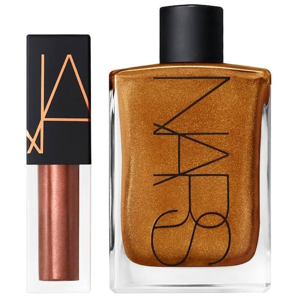 <p>The <span>Nars Mini Lip Oil & Mini Body Glow Set</span> ($28) will make you glow like the sun and sparkle like the winter snow.</p>
