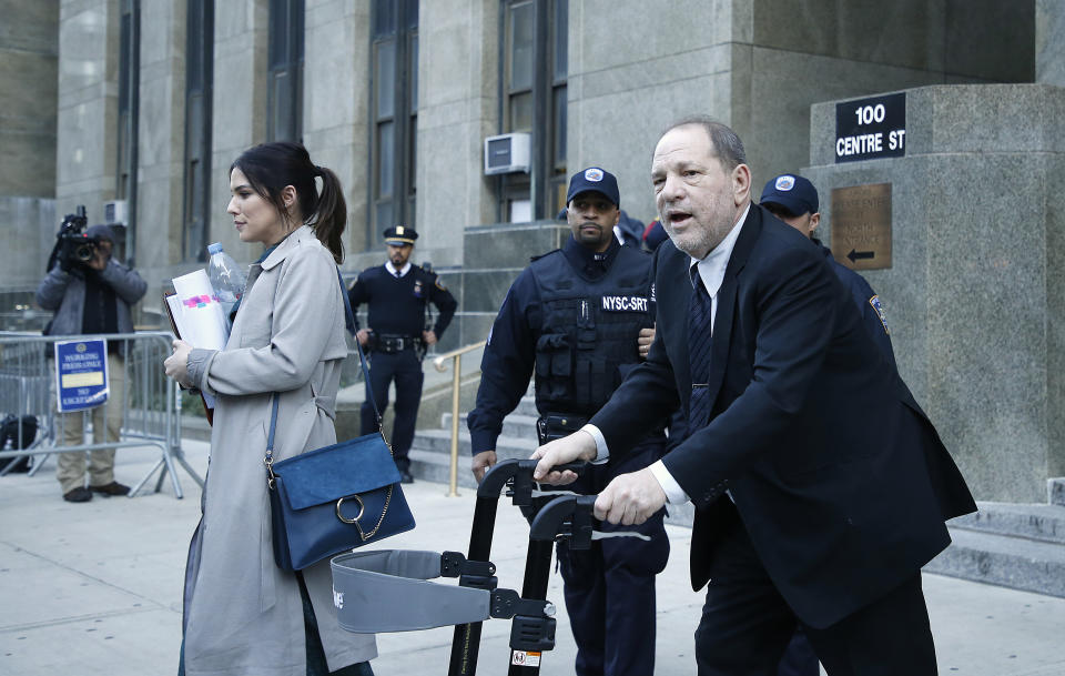Former Hollywood film producer Harvey Weinstein leaves court during his continuing rape trial. According to CNN Mr. Weinstein was accused by more than eighty women of sexual abuse ranging from harassment to rape. He is charged with predatory sexual assault, criminal sexual act, first-degree rape and third-degree rape. (Photo by John Lamparski / SOPA Images/Sipa USA)
