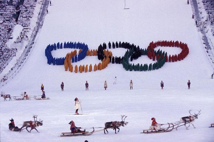 <p>After original ski flier Ole Gunnar Fidjestol is injured during a practice run, backup Stein Gruben brings the Olympic torch to the flame in dramatic fashion by jumping into center stage.</p>