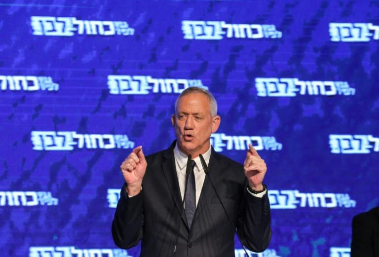 Retired Israeli general Benny Gantz praised his alliance for a 'historic accomplishment'