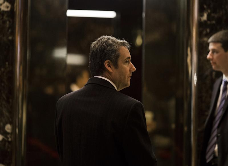 Attorney Michael Cohen arrives at Trump Tower in New York, Jan. 12, 2017. (John Taggart/Bloomberg via Getty Images)