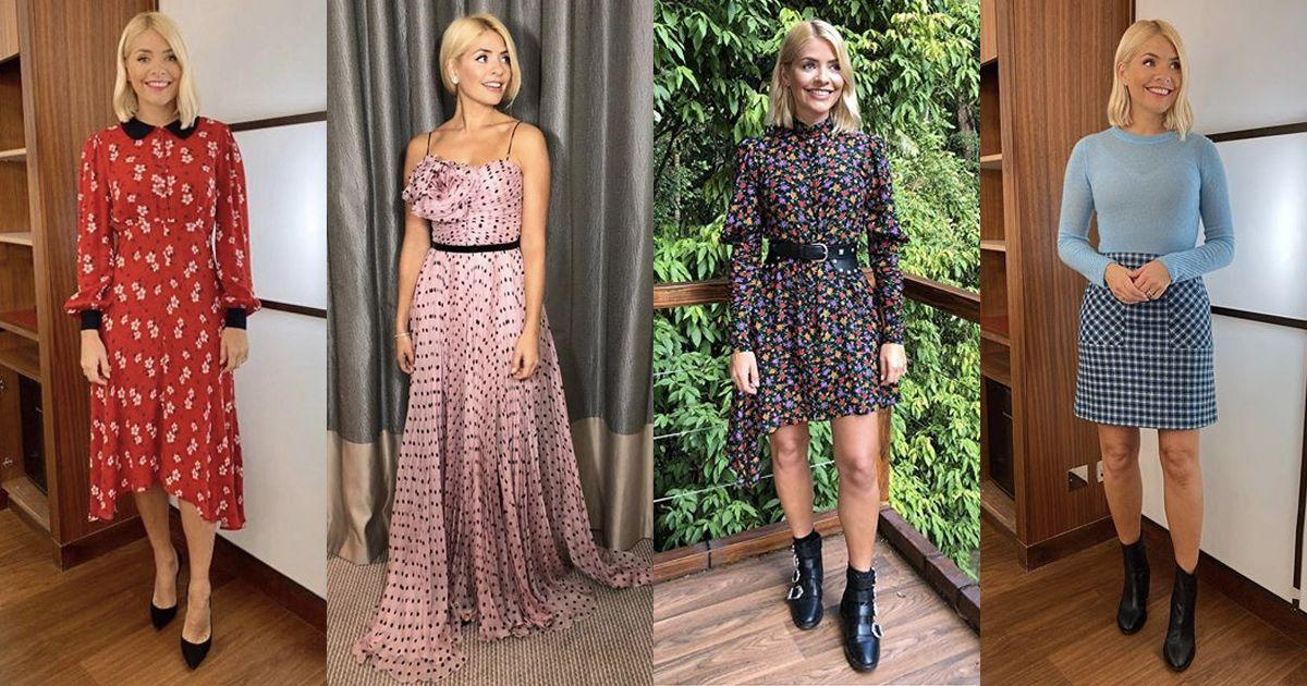 "<p>We'll forgive you for getting lost down the rabbit hole that is <a href=""https://www.instagram.com/hollywilloughby/?hl=en"" target=""_blank"">Holly Willougby's Instagram</a>. Over the last few years, the This Morning presenter has become a bit of a UK style icon and it's easy to see why. And after hitting our screens every night on I'm A Celebrity, we have even more reason to covet her wardrobe. Aside from the fact that she nails getting dressed - with the help of her stylist, Angie Smith - every single weekday (which we definitely can't manage), she also gives us affordable style inspiration from the humble high street. From cute tea dresses, mini skirts and all that knitwear, Holly Willoughby's wardrobe is legit one of the best around. </p><p>And here are some of her best outfits as proof...</p>"