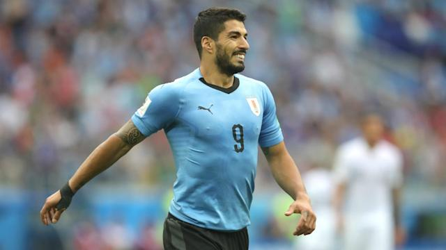 Barcelona forward Luis Suarez is set to make his first Uruguay appearance since the Copa America.