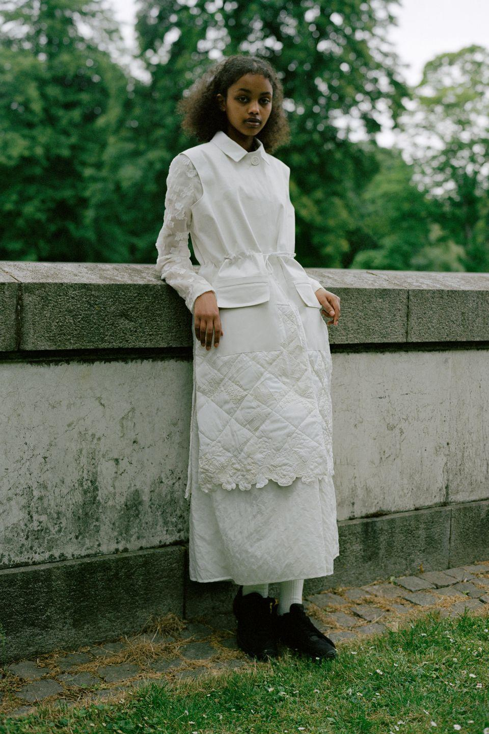 """<p>""""I want the dresses and everything else to be worn in the streets, not just during special occasions,"""" said designer Cecilie Bahnsen to <em>Vogue</em> on her resort 2021 collection. For this release, Bahnsen used 100 percent upcycled fabrics from her previous collections to create everyday peplum tops, quilted skirts, and her iconic puff sleeve and dress silhouettes. </p>"""