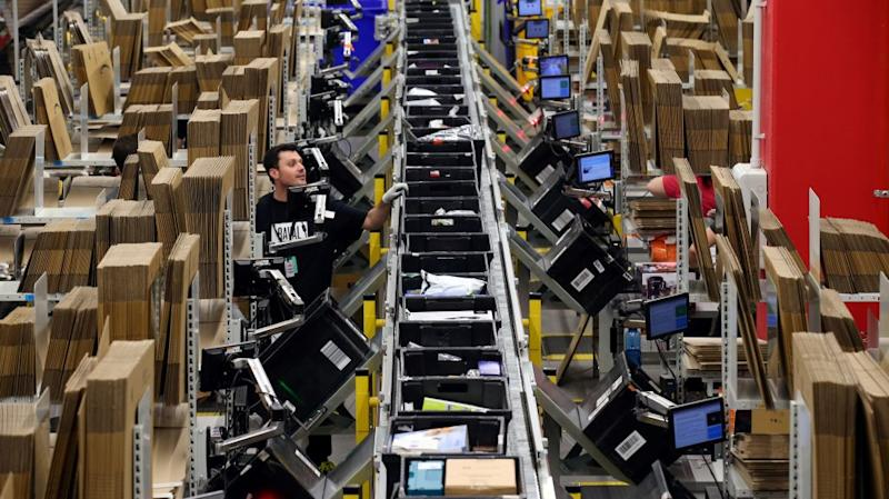 worker at amazon facility in Spain