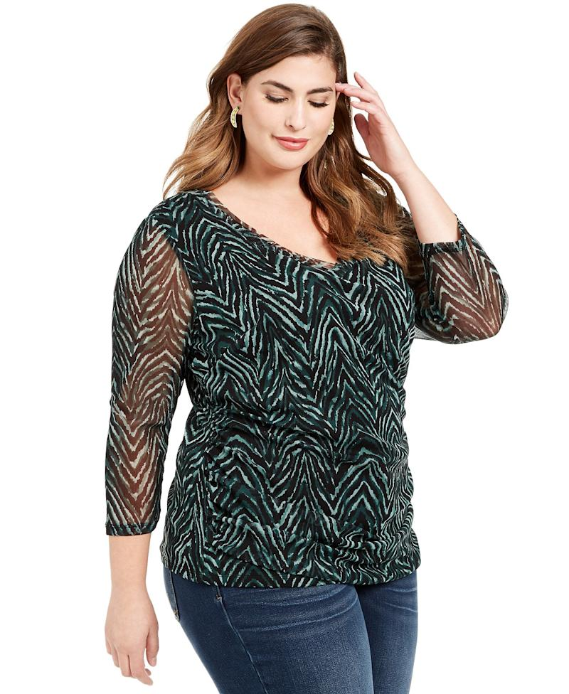 I.N.C. Double Layer Ruched Side Top. (Photo: Macy's)