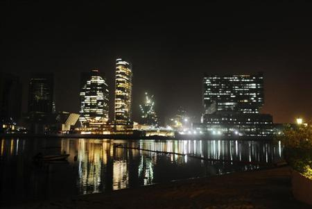 Buildings are seen at Sowwah Square on Marayah Island, Abu Dhabi's new central business district May 7, 2013.