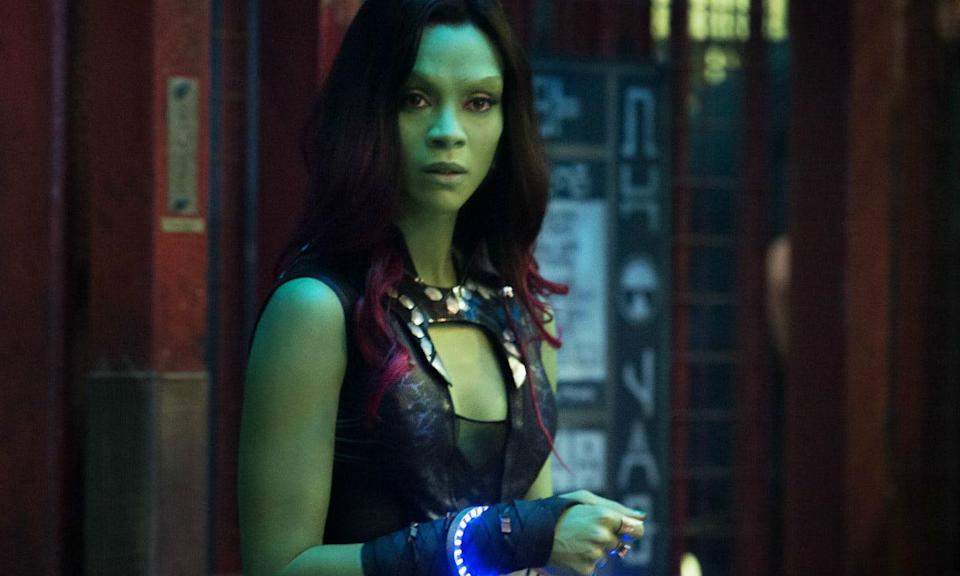 <p><span><strong>Played by:</strong> Zoe Sladana</span><br><strong>Last appearance: </strong><i><span>Guardians of the Galaxy Vol. 2</span></i><br><span><strong>What's she up to?</strong> Gamora and her sister Nebula are now on good terms after teaming up against Ego in <em>Vol. 2</em>. She asks Nebula to stay and help save other daughters of Thanos from going through what they did. Gamora also tells Peter that she does like him too, so it looks like their romance is heating up.</span> </p>