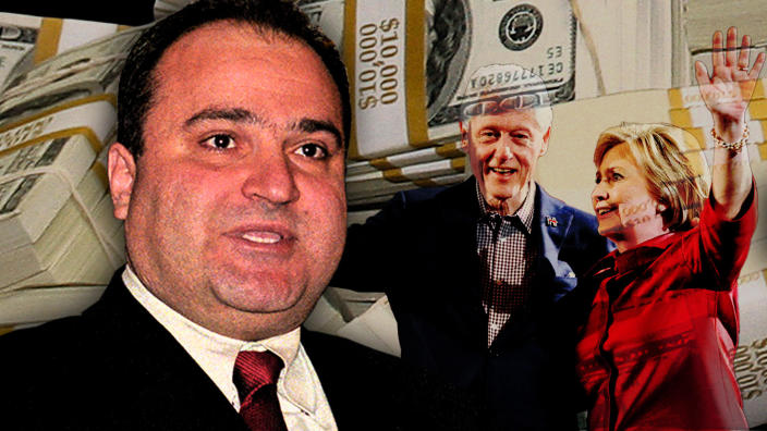 George Nader and Bill and Hillary Clinton. (Photo illustration: Yahoo News; photos: Ron Sachs/CNP/Getty Images, AP (2))