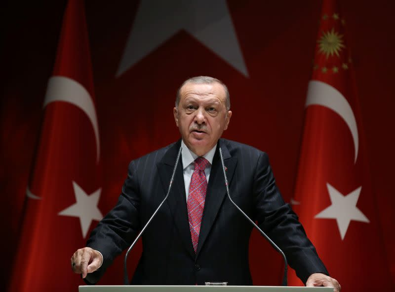 Erdogan says Turkey 'will not back down' in east Med standoff