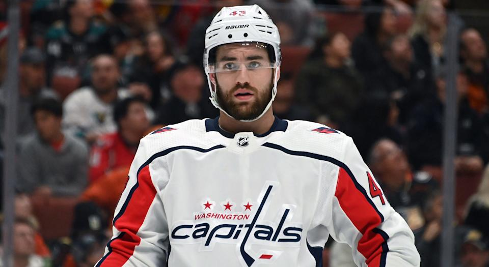 Tom Wilson is not getting off to a good start in 2019-20. (Kirby Lee-USA TODAY Sports)