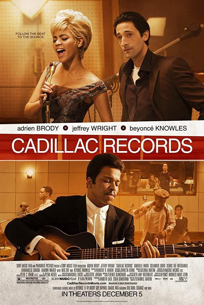 """<p>Blues music, rock and roll, and Beyoncé as Etta James—it can't get better than <em>Cadillac Records</em>. The biographical drama depicts the early careers of some of music's best, including Muddy Waters, Little Walter, Etta James, Howlin' Wolf, Chuck Berry, and record producer, Leonard Chess of Chess Records. </p><p><a class=""""link rapid-noclick-resp"""" href=""""https://www.amazon.com/Cadillac-Records-Adrien-Brody/dp/B001RONJYC?tag=syn-yahoo-20&ascsubtag=%5Bartid%7C10063.g.36572054%5Bsrc%7Cyahoo-us"""" rel=""""nofollow noopener"""" target=""""_blank"""" data-ylk=""""slk:Watch Here"""">Watch Here</a></p>"""