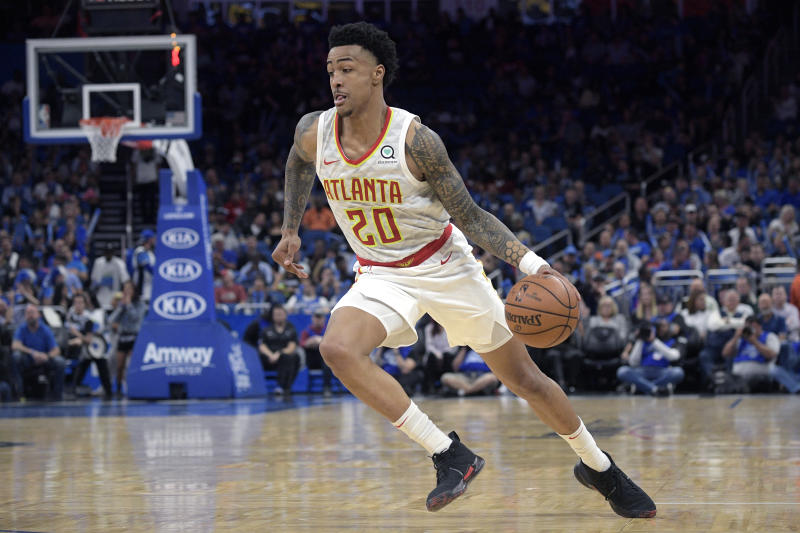 John Collins will miss the next 25 games due to a suspension. (AP Photo/Phelan M. Ebenhack)