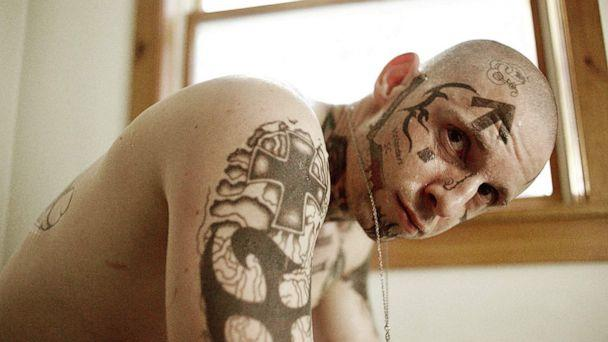 PHOTO: Jamie Bell in a scene from 'Skin.' (A24)