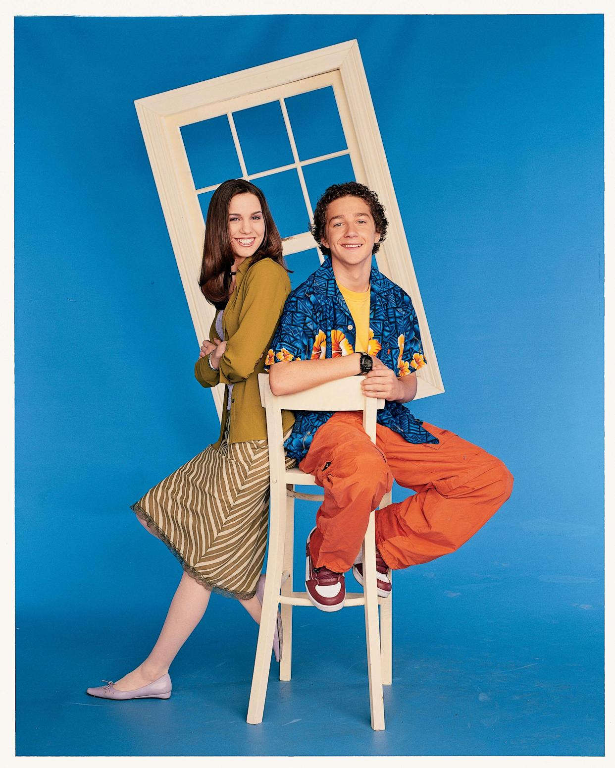 EVEN STEVENS - Christy Carlson Romano stars as 'Ren Stevens,' and Shia LaBeouf stars as 'Louis Stevens' on 'Even Stevens' on the Disney Channel.  (Photo by George Lange/Disney Channel via Getty Images) CHRISTY CARLSON ROMANO;SHIA LABEOUF