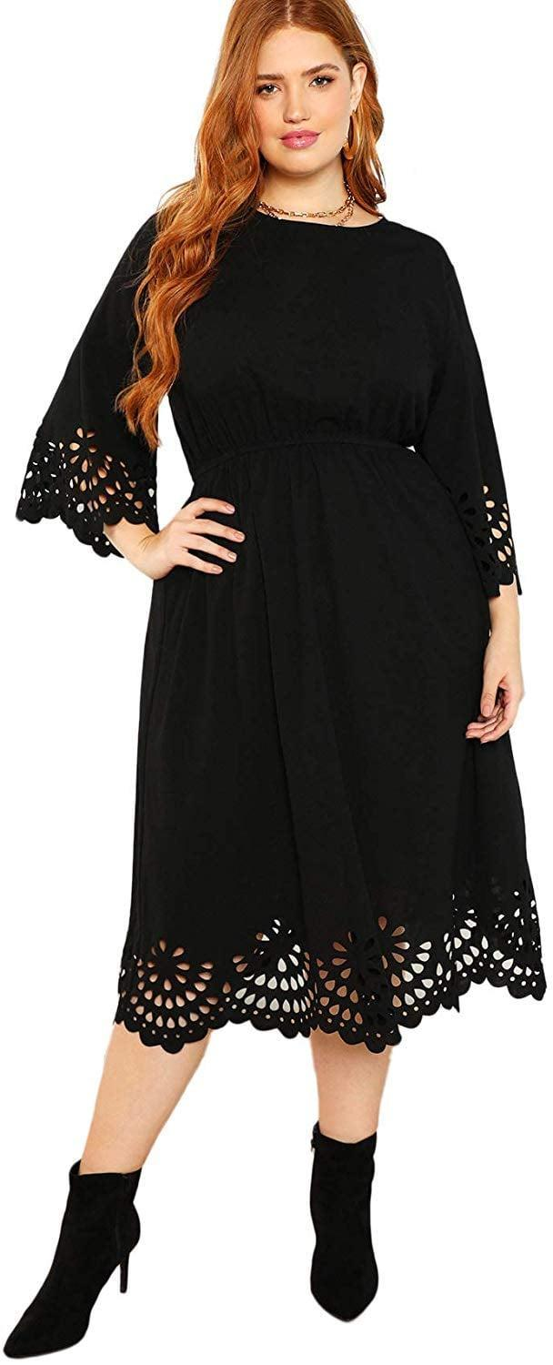 <p>We appreciate the details on this <span>Romwe Scallop A-line Dress</span> ($31).</p>