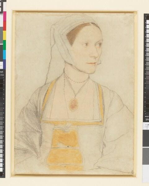 Hans Holbein II, Cecily Heron (1527) - Credit: Royal Collection Trust