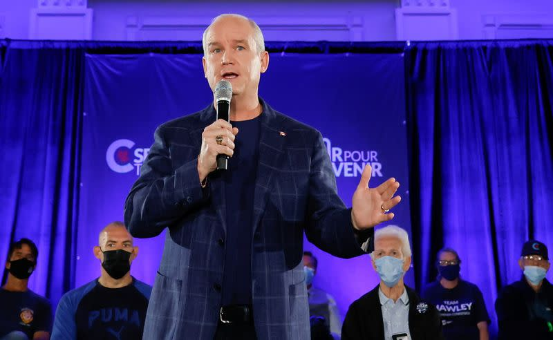Canada's opposition Conservative Party leader Erin O'Toole continues his election campaign tour in Kitchener, Ontario