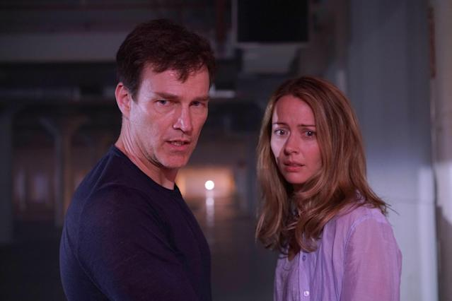Stephen Moyer and Amy Acker in <em>The Gifted</em>. (Photo: Ryan Green/Fox)