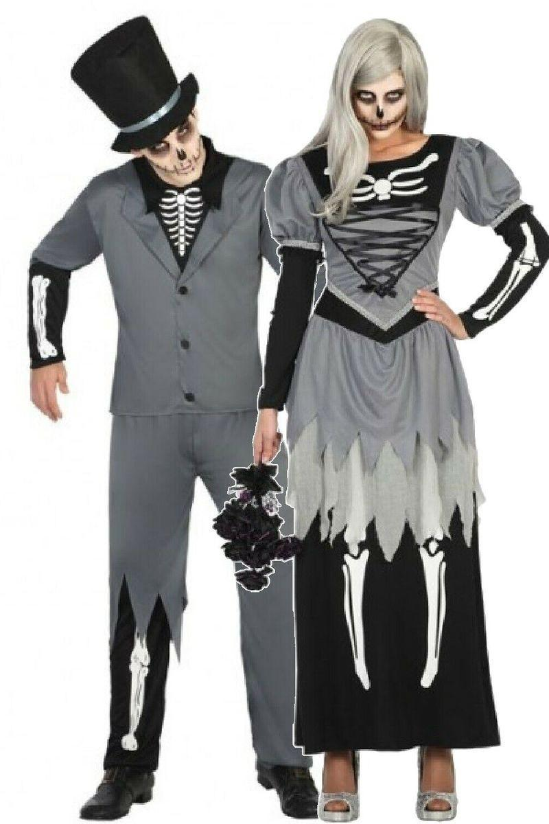 """<p>Nothing says Halloween quite like a skeleton costume — it's a classic for a reason.</p><p><a class=""""link rapid-noclick-resp"""" href=""""https://go.redirectingat.com?id=74968X1596630&url=https%3A%2F%2Fwww.ebay.com%2Fitm%2F144071025081&sref=https%3A%2F%2Fwww.womansday.com%2Fstyle%2Fg28669645%2Fscary-halloween-couples-costumes%2F"""" rel=""""nofollow noopener"""" target=""""_blank"""" data-ylk=""""slk:SHOP COSTUME SET"""">SHOP COSTUME SET</a></p>"""