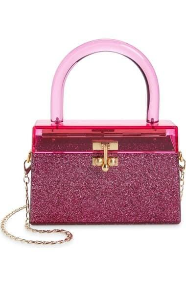 <p>Treat her to this dazzling <span>Miss Mini Acrylic Top Handle Bag</span> ($1,095)/</p>