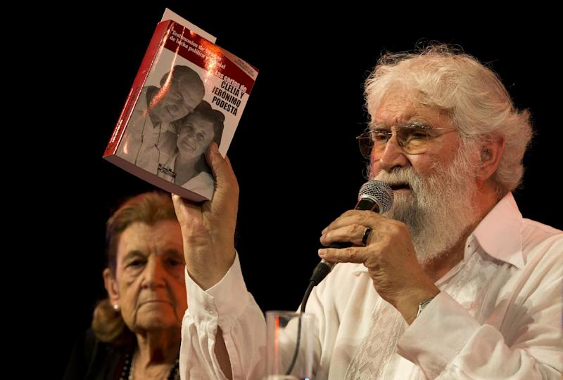 """Liberation Theologist Leonardo Boff, of Brazil, speaks at a book fair during the launching of a book by Clelia Luro, the wife of former bishop Jeronimo Podesta, in Buenos Aires, Argentina, Saturday, April 27, 2013. Liberation theologist Leanardo Boff says Pope Francis has what it takes to fix a church """"in ruins."""" Previous popes tried to silence the Brazilian leftist, but Boff says the former Argentine cardinal who became pope last month has both the vigor and tenderness to create a new spiritual world. (AP Photo/Victor R. Caivano)"""