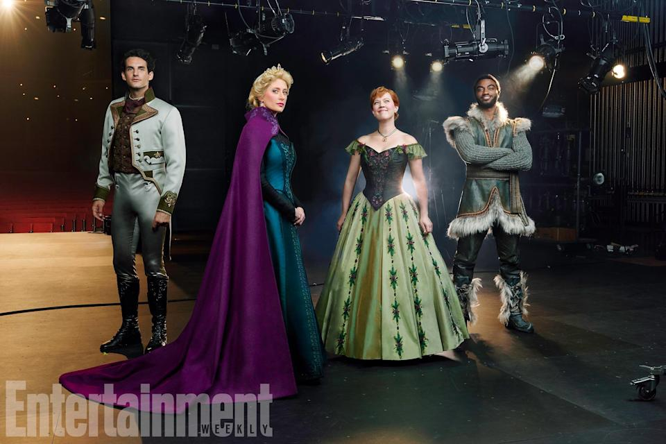 Here's our first look at the cast of Disney's Frozen: The Musical – Credit: EW