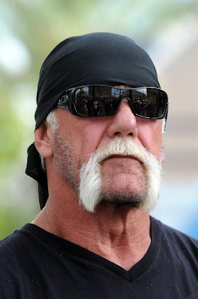 TV personality Terry Bollea aka Hulk Hogan attends a press conference to discuss legal action being brought on his behalf on October 15, 2012 in Tampa, Florida (AFP Photo/Gerardo Mora)